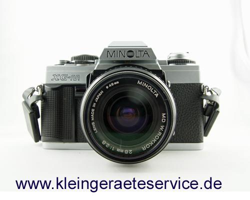 Reparatur einer analogen Spiegelreflexkamera Minolta XG-M